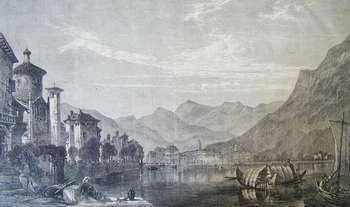 Lugano dal lago 1865