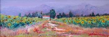 Paesaggio con girasoli