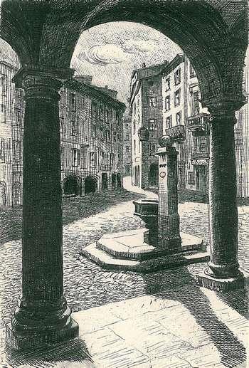 Lugano piazza Dante