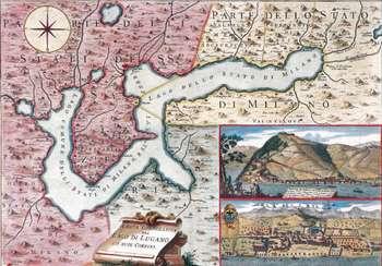Carta corografica del lago di Lugano