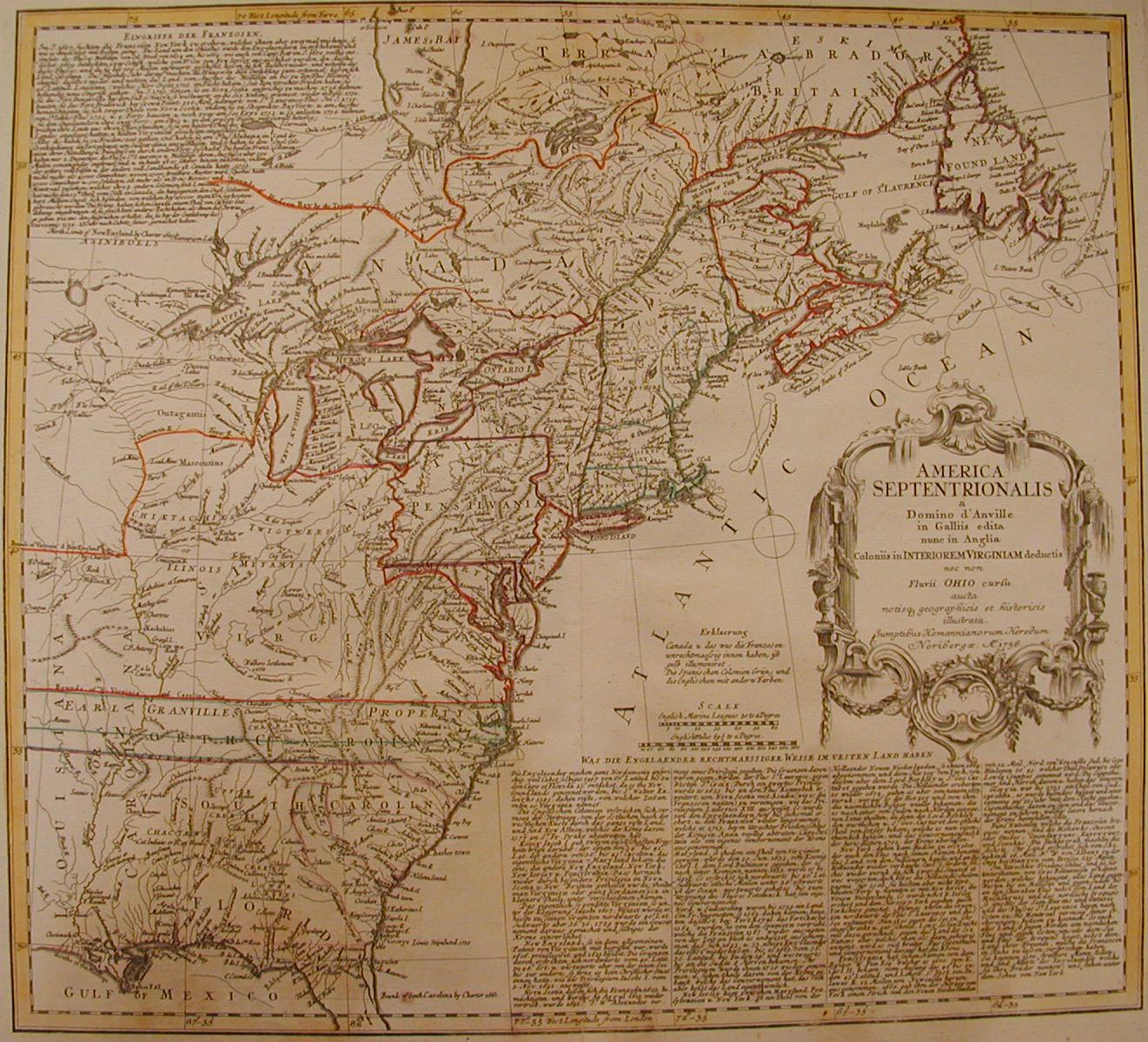 America Settentrionale 1756