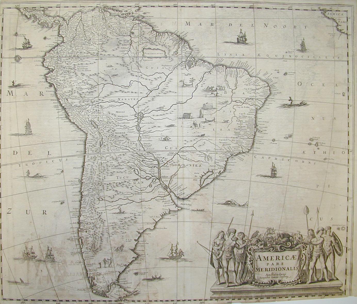 America Meridionale 1650