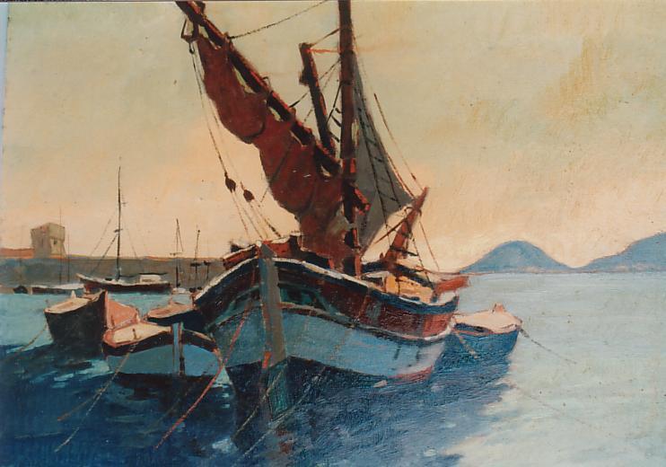 Barche nel porto La Tartana