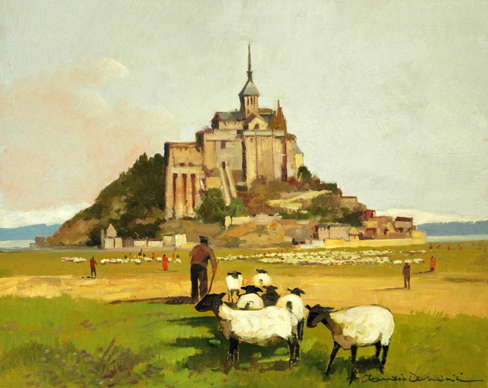 Mont Saint Michel e il gregge