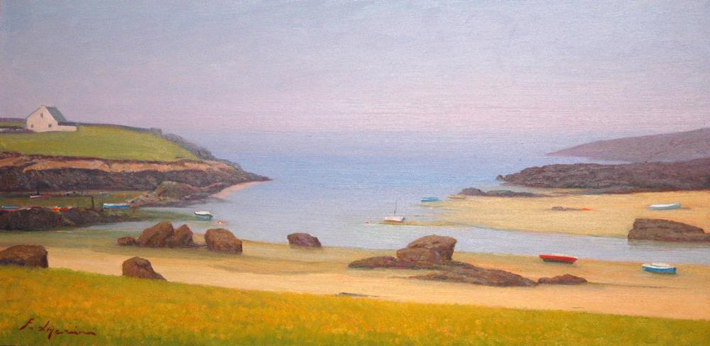 La bassa marea sulla costa bretone