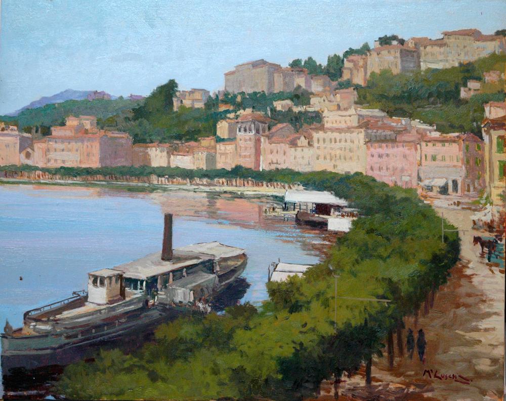 Lugano lago con vaporetto
