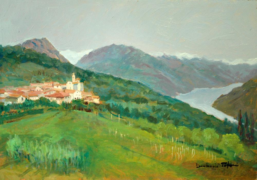 Carona e il lago di Lugano