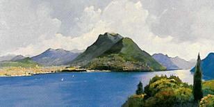 Lago di Lugano da Paradiso