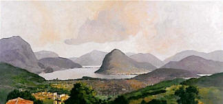 Lago di Lugano da Comano