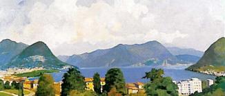Lago di Lugano dal Parco Tassino