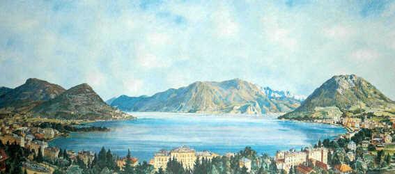 Panorama sul golfo di Lugano