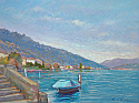 Vista su Lugano da Melide