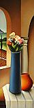 Vaso blu con fiori