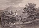 Castello e chiesa di Magliaso 1861